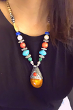 Traditional Amber Drop Necklace