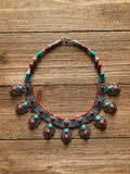 The Exquisite Turquoise Flora Necklace