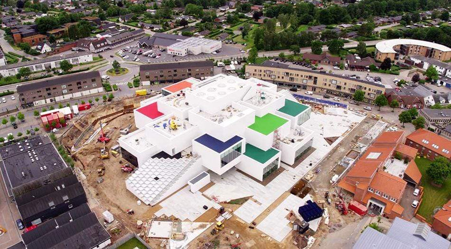 LEGO Drone Video showing its New Lego House