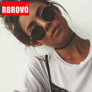 RBROVO Vintage Oval Classic Sunglasses Women/Men