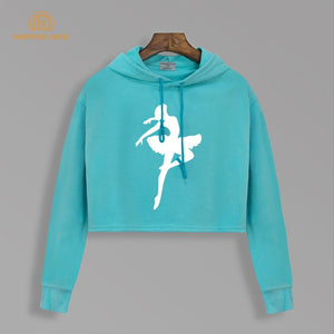 Ballet Dancer Dream Hoodies - Short Style Cropped
