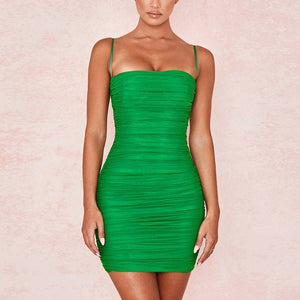 NewAsia Mesh Summer Dress Straps Bodycon