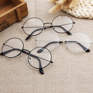 Round Plain Clear Glasses - Ultra Light