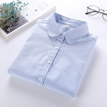Women Blouse  Casual - Long Sleeve Oxford