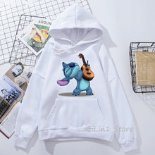 Funny Kawaii Lilo and Stitch print women's sweatshirt unisex