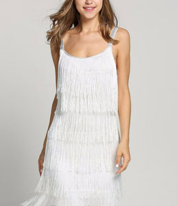 Tassel Dress Flapper Beach Dress Strap