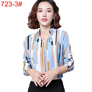 Women Chiffon Blouse Shirt - Long Sleeve