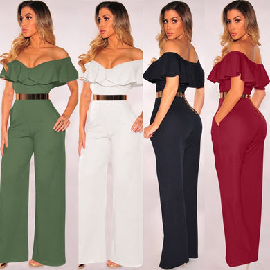 Jumpsuits Sexy Backless Hollow Out
