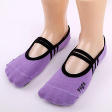 High Quality 1 Pair Fitness Socks Non Slip Pilates Massage Ballet Socks Exercise Soft Cotton Funny Socks sokken - ${tags}