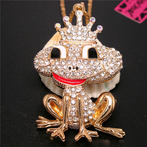 Betsey Johnson Prince Frog Necklace