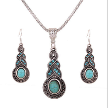 Tibetan Turquoise Necklace and Earring Set