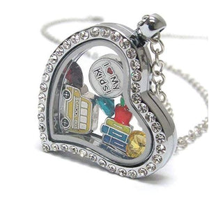 Teacher Charm Locket - HEART