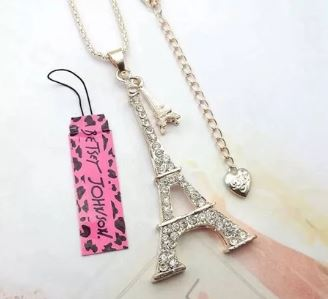Betsey Johnson Eiffel Tower Necklace