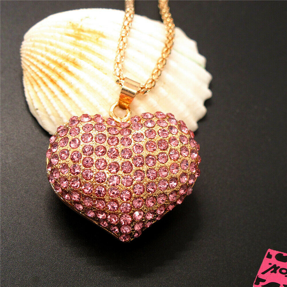 Betsey Johnson 3D Rhinestone Heart