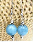 Aquamarine Sphere Earrings