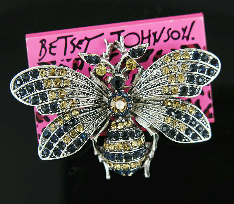 Betsey Johnson Bee Brooch - Silvertone