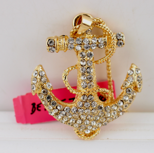 Betsey Johnson Anchor Necklace