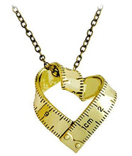 Necklace with Ruler heart Charm (choice of finish)