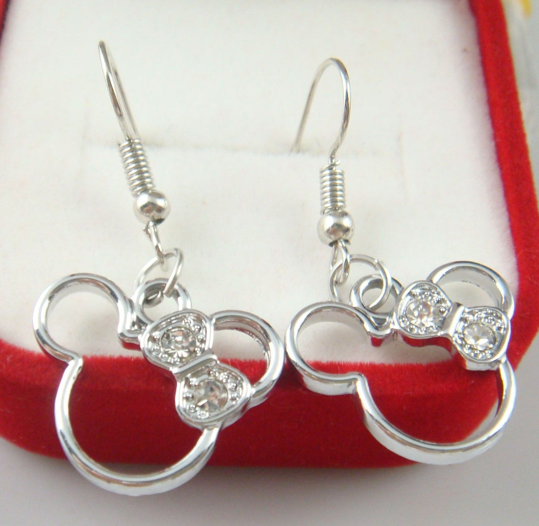 Minnie Earrings with Rhinestones
