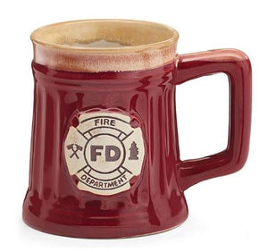 Fire Department Mug with Crest, 15 oz