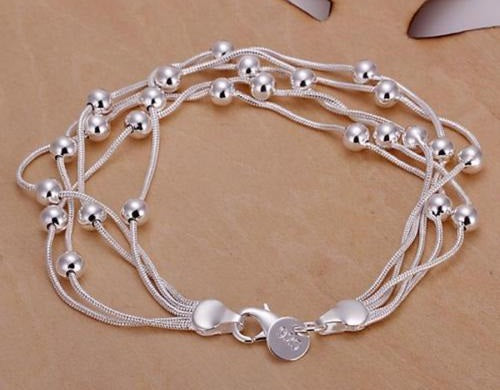 Bead Party Silver Plated Bracelet