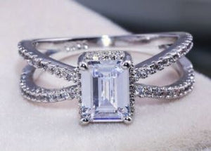 Criss Cross Engagement Ring - Size 8