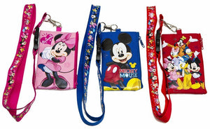 Disney Character Lanyard & Zippered Pouch