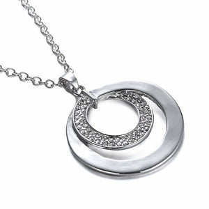 Circle in Circle Textured Necklace