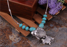 Turquoise Necklace with Fish Pendant