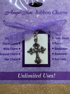 Ribbon Charm - Cross