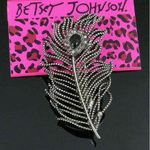 Betsey Johnson Peacock Feather Brooch