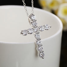 Crystal Cross - Sterling Silver