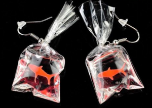 Goldfish in a Bag Earrings
