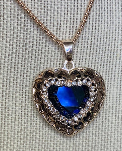Blue Amulet with Hearts