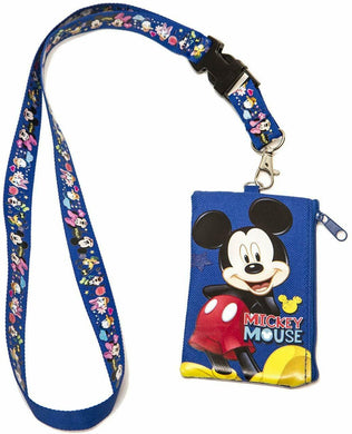 Mickey Mouse Lanyard & Zippered Pouch