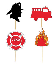 Cupcake Topper - Fireman or Firelady Assortment (24 Pieces)