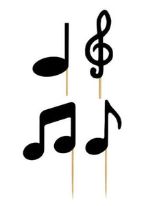 Cupcake Topper - Musical Notes Assortment (24 Pieces)