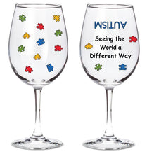 Autism Awareness Wine Glass