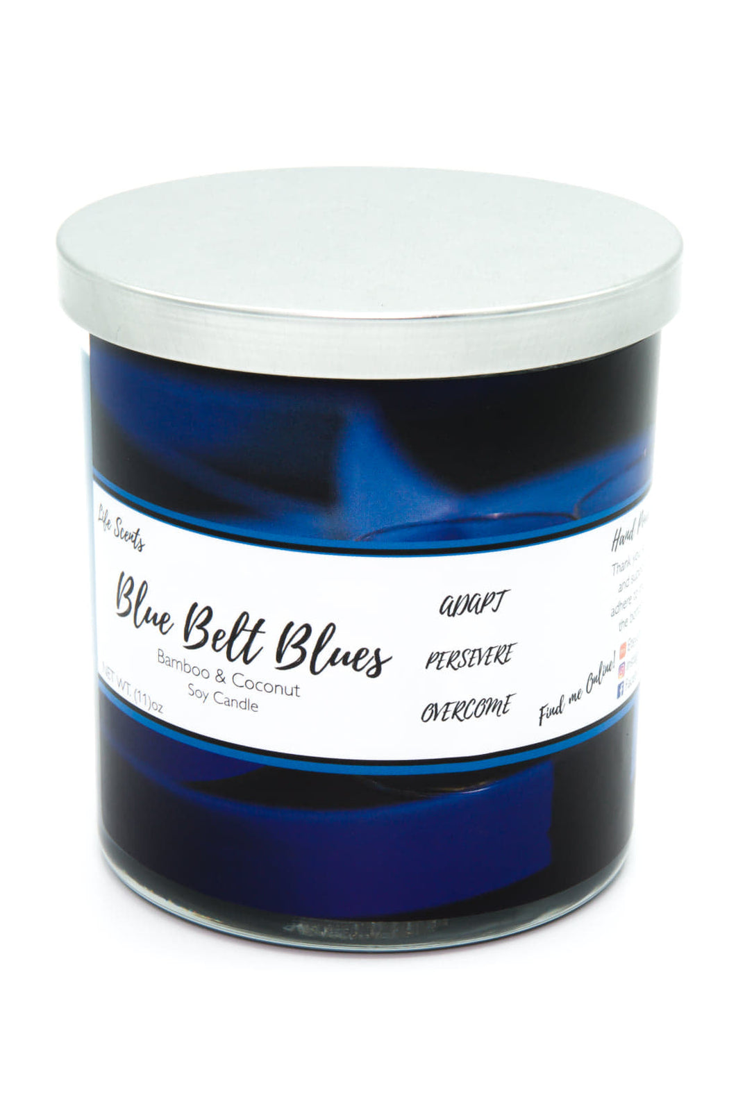 Blue Belt Blues - Bamboo & Coconut Scented Candle