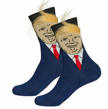 Trump Socks with Combable Hair