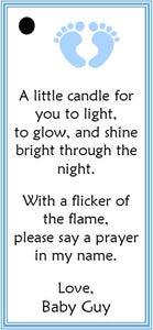 Baby Favor Tags for Candle Favors (set of 24)