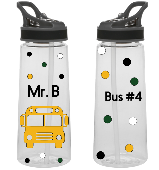 School Bus Driver Sports Bottle