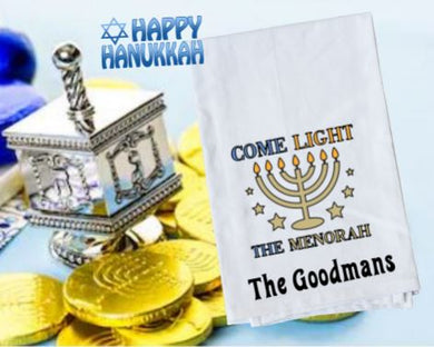 Flour Sack Towel - Come Light the Menorah