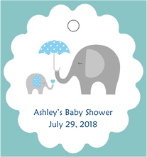 Baby Shower Tag - Elephant - Pink or Blue  (set of 30)