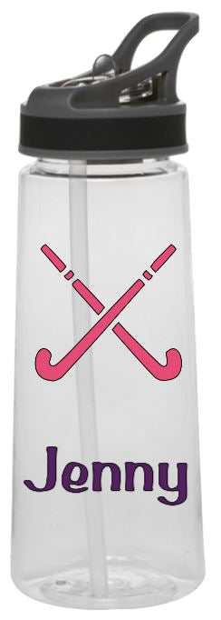 Sports Bottle - Field Hockey (Name, Mom or Dad)