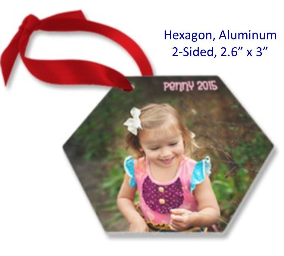 Hexagon Ornament - 2-Sided