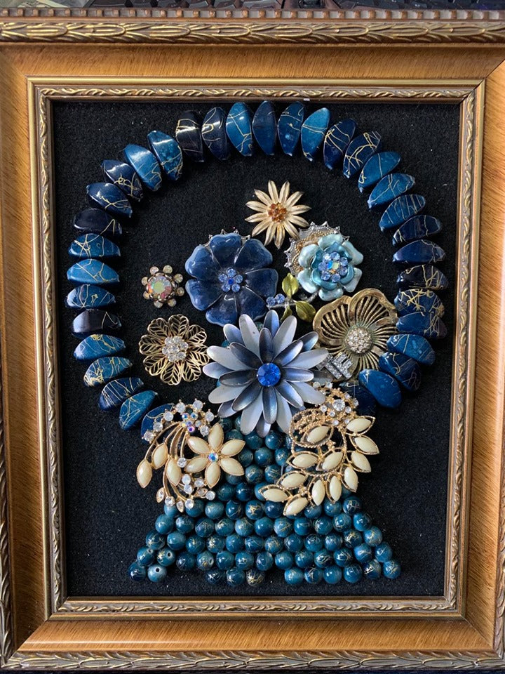 Jewelry Art - Blue Basket