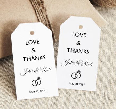 Favor Tag - Love & Thanks (set of 24)