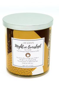 Might've Overslept - Vanilla Chestnut Coffee Scented Candle