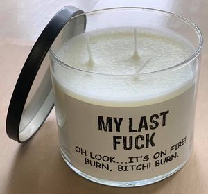 MY LAST FUCK Candle